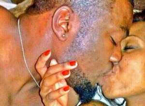 Hakeem and Huddah kissing at the hotel