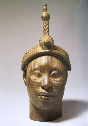 """Olokun"", crowned head, Ife, National Commission for Museums and</p><p>Monuments, Nigeria"