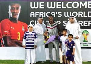 Ghana striker Asamoah Gyan honoured by Al Ain for World Cup achievements