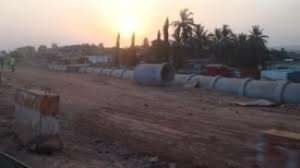 Traders Impeding Work On Tetteh Quarshie-Mallam Road