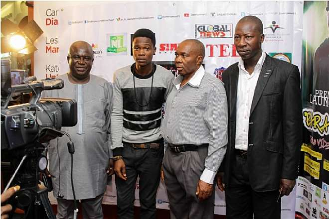 GEANYBOD, DA EMPEROR, PALEMAN, MUBASHIR GANIYU ON THE RED CARPET