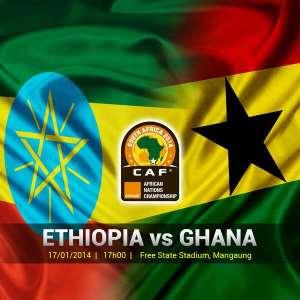 LIVE: Ghana v Ethiopia (CHAN 2014 Group C Match Day 3)