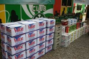 Voltic Ghana Limited and Accra Brewery Limited donated to Ghana Journalists Association 85 cases of a mixture of their products made up of Club Premium Lager, Stone Strong Lager, Castle Milk Stout, Chairman Malt Liquor, Club Shandy Bosoe, Club Muscatella, Club Orange, Club Quinine Tonic, Club Soda, Peroni Nastro Azzurro, Redd's Fruit Fusion, Vita-Malt Plus and cases of Voltic Natural Mineral Water.
