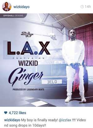 Star Boy Artiste, L.A.X Impresses Wizkid With 'GinGer'