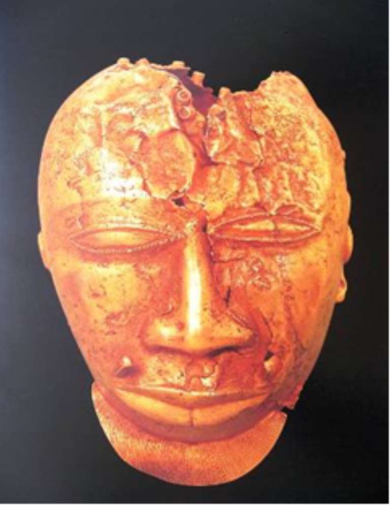 Golden mask, removed by the British from Kumasi, Ghana, in 1874 and now in the Wallace Collection, London.