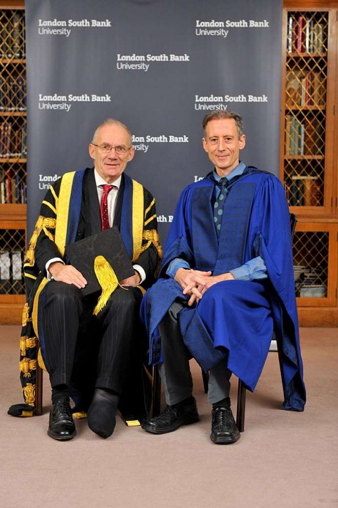 South Bank UniversityVice Chancellor, Prof Martin Earwicker and Peter Tatchell.