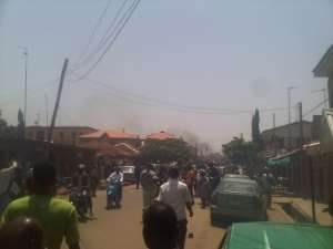 PHOTONEWS: Bomb Attack On Thisday Offices In Kaduna