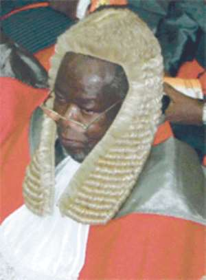 Kpegah Acts As Chief Justice