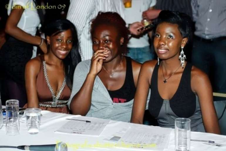 Judges deliberating for male heats, (L-R) Samata Angel, Maame and Vicky, the female winner of TMC 2008