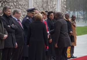 Photo: John Mahama in Germany with General Mosquito