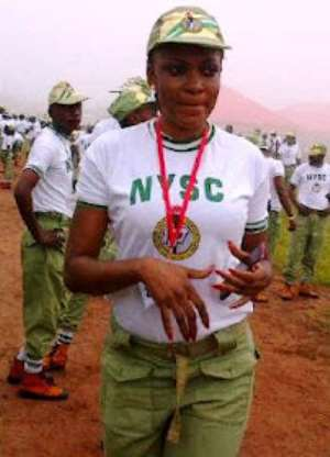 Most Beautiful Girl in Nigeria steps out in NYSC gear