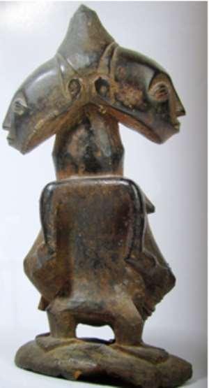 Janus Figure ,Luba/Hemba ,Democratic Republic of Congo.