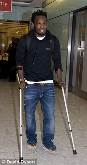 Essien will out of action for six weeks