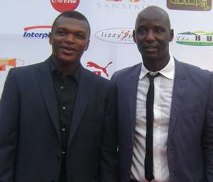 Marcel Desailly with Tony Baffour (right)
