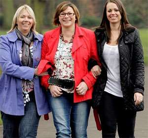(Left to right) Luan Moreton, Kim Jones and Jemma Dennis from Nuneaton: All have had double mastectomies