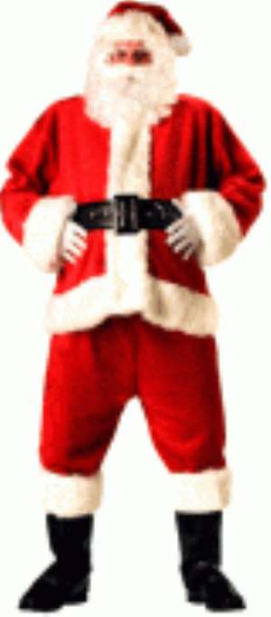 Father Christmas, Santa Claus or Papa Bronya dressed in his outfit.