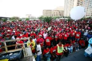 South African HIV activists come out on the streets