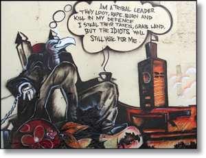 Kenyans disparage the old order on walls                   Photo courtesy