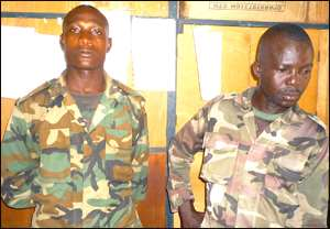·Private William Taylor and Cpl Asare Boateng