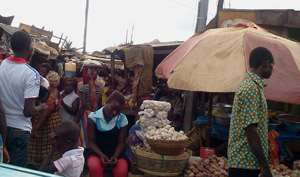 The Sunyani Central Market