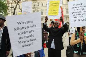 The Protest Against 15 Months Unjust Imprisonment Of Pastor Joshua Esosa In Vienna, Austria - Global Reporters Vienna