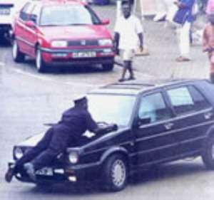 Drivers should refrain from assaulting law enforcement agents