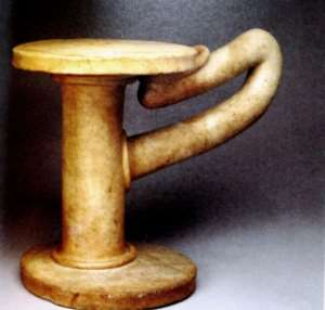 Quartz stool from shrine at Oluorogbo, Ife, Nigeria, now in British Museum, London, United Kingdom