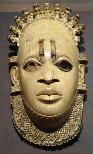 Queen-Mother Idia, Benin, Nigeria, now in British Museum, London, United Kingdom. Will she finally be allowed to return home in Benin City from British exile since 1897? Will the British play the same game as they played when Nigeria asked for the sculpture for FESTAC?