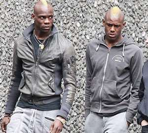 Mario Balotelli and his younger brother Enoch