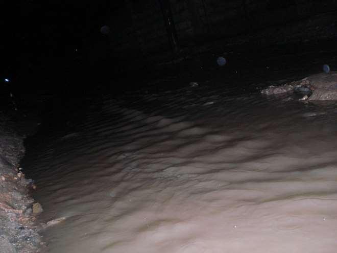 running water during rainy season