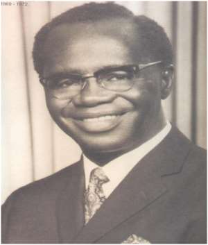 Dr. K. A. Busia (July 11, 1913–Aug. 28, 1978)