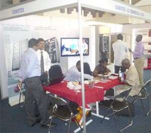 Executives & Somotex Staff at the exhibition