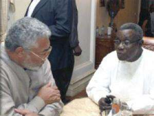 Jerry Rawlings and President Mills