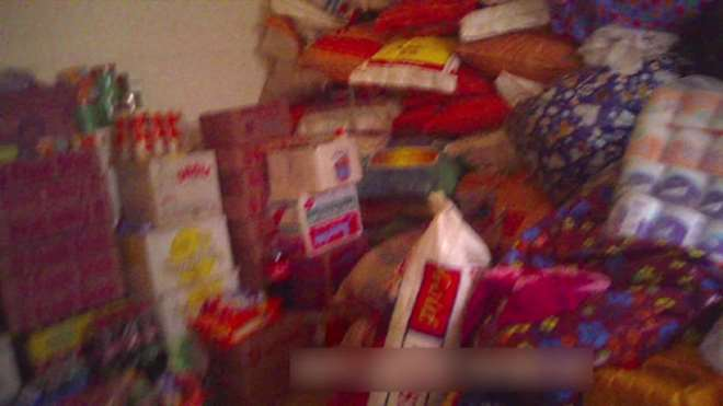 STORE ROOM FILLED WITH DONATIONS