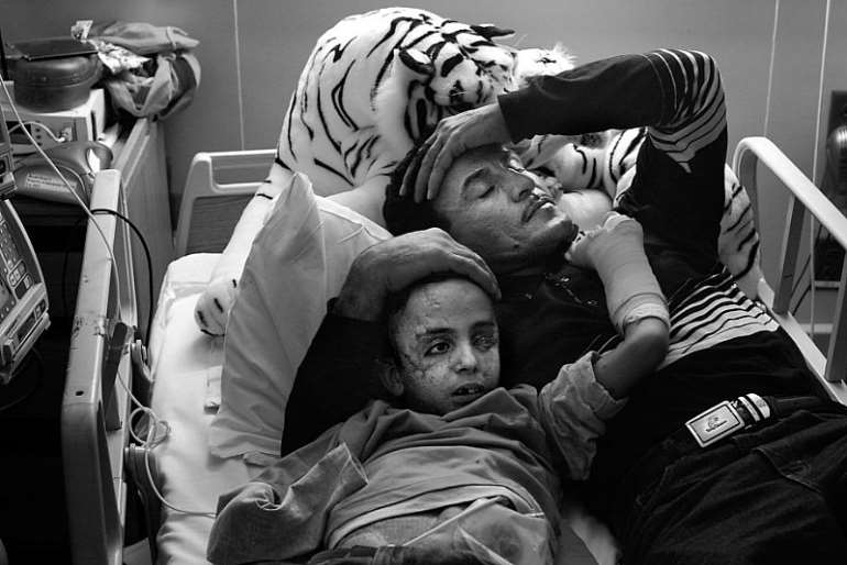 Saleh in his hospital bed in 2004. Photo credit: Michael Macor / The San Francisco Chronicle