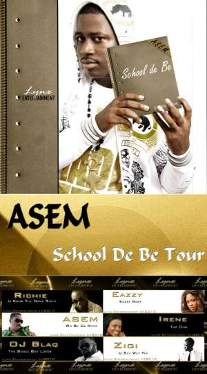 """STUDENTS GIVE ASEM THE 'MICHEAL JACKSON' TREATMENT; AS HE EMBARKS ON THE """"SCHOOL DEY BE TOUR""""."""