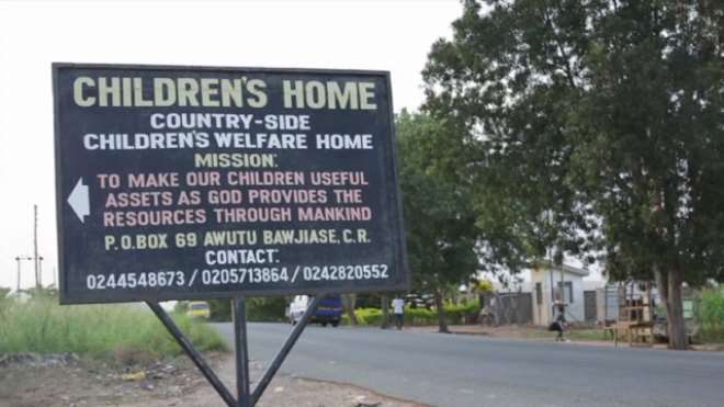 SIGNBOARD OF THE ORPHANAGE