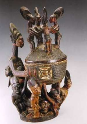 Bowl with figures, National Museum for African Art, Smithsonian Institution, Washington, USA.
