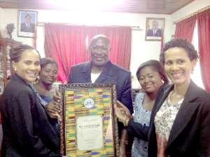 Twins Foundation honours Burkinabé envoy