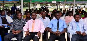 Students of the Takoradi Polytechnic at a recent matriculation
