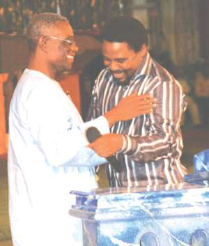T. B. Joshual & Prof. John Atta Mills