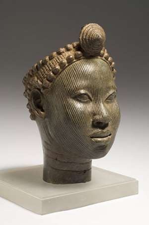Brass head with crown, Wunmonije Compound, Ife, National Commission for Museums and Monuments, Nigeria.