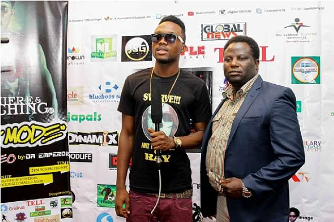 THE C.E.O BLUEBOSS ENTERTAINMENT 'MR BAYO OKEGBENRO' ON THE RED CARPET