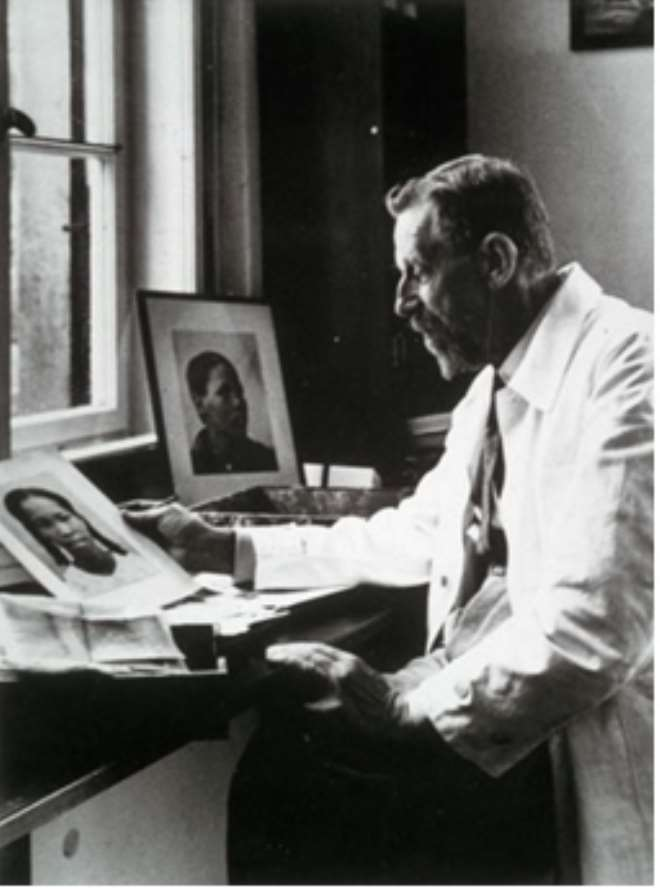 The evil Dr Eugen Fischer whose pseudo-scientific theories of racial purity were practised on Namibians.