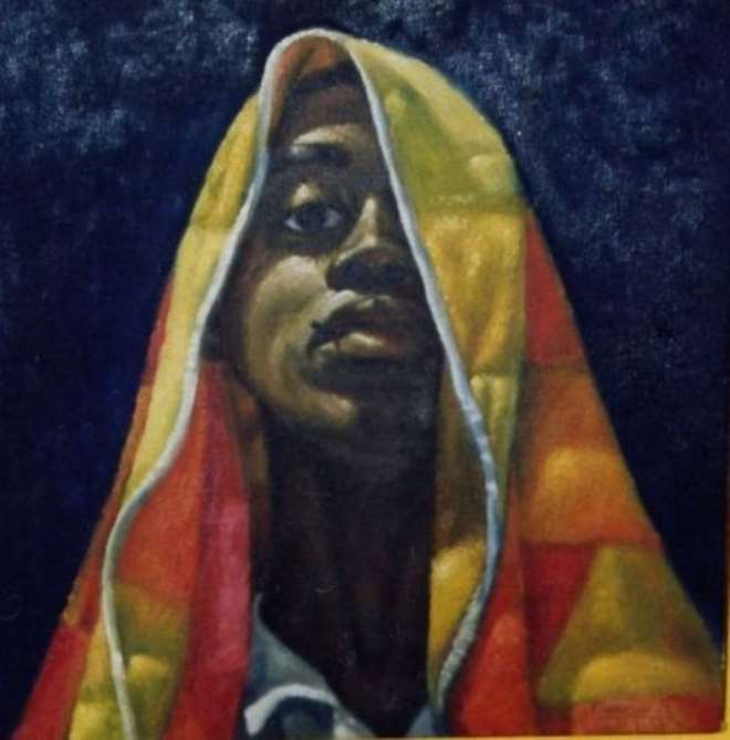 The Fighter Part 1 Painting, Eugene Ankomah
