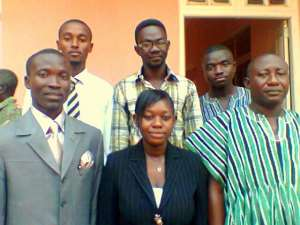 The newly elected executives with the Regional Director (in Smock, in front)