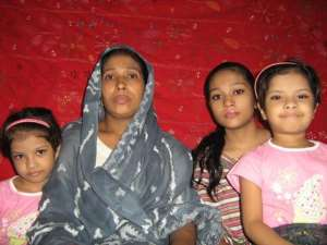 The persecuted christian Convert's family members Ms. Khainur Islam