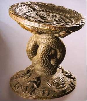 Throne of Oba Eresoyen, Benin, Nigeria, now in Ethnologisches Museum, Berlin, Germany.