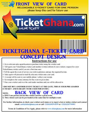 TICKETGHANA INTRODUCES GROUNDBREAKING E-TICKET CARD FOR EVENTS