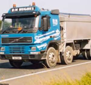 Truck runs over driver's mate